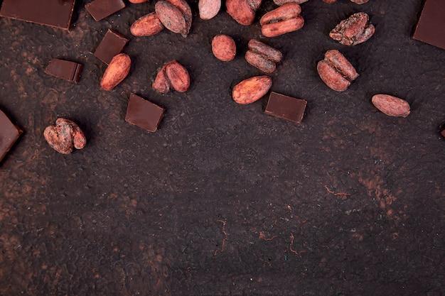 ココア豆の背景。