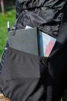 Рюкзак с туристическим снаряжением