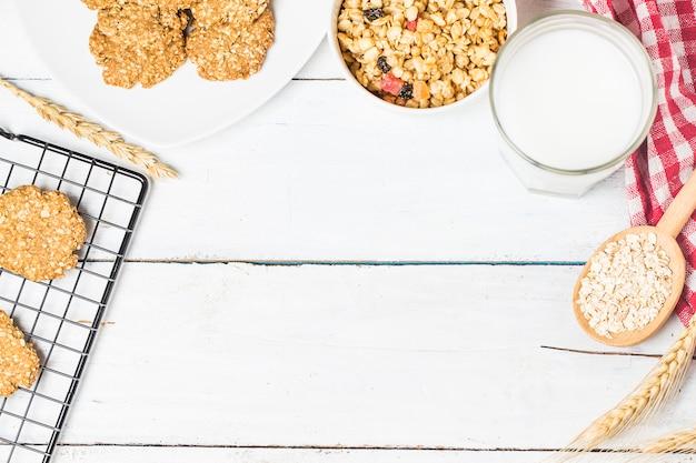 オート菓子と甘い自家製クッキー