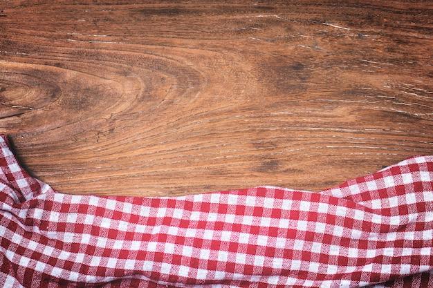 タータン、木製の背景
