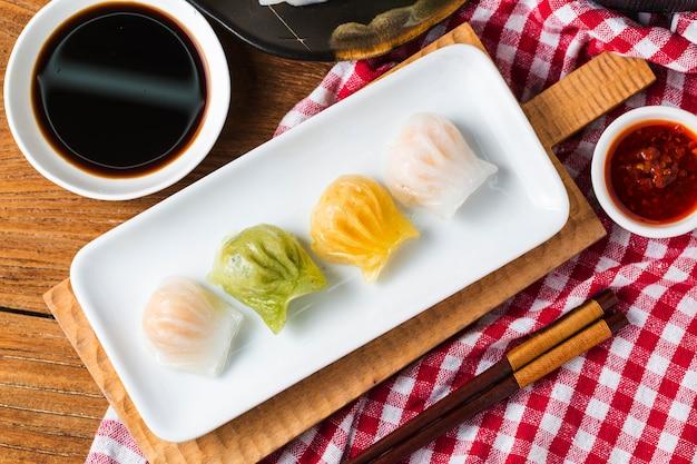エビの餃子、人気の中国のサム