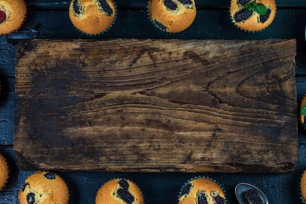 桑のマフィンケーキ