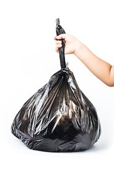 Мешок для мусора на белом