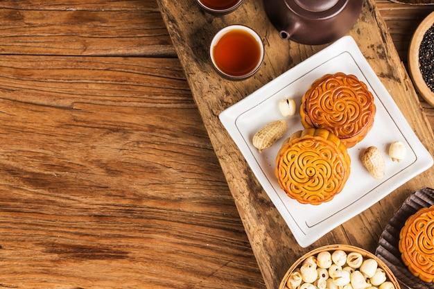 中秋節中国の伝統的なペストリーの月餅