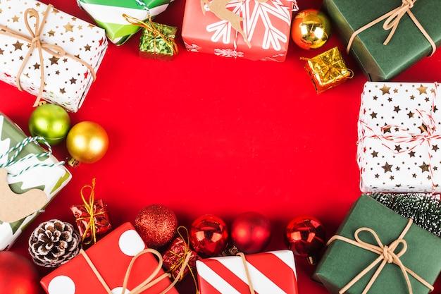ギフトボックスクリスマスフレームの背景