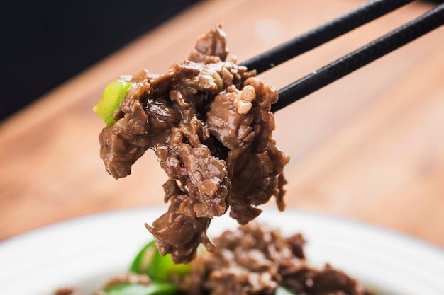 牛肉の唐辛子炒め