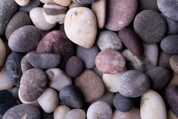 さまざまな小石トップビューテクスチャ