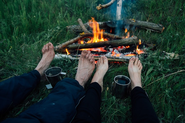 火の足の友人