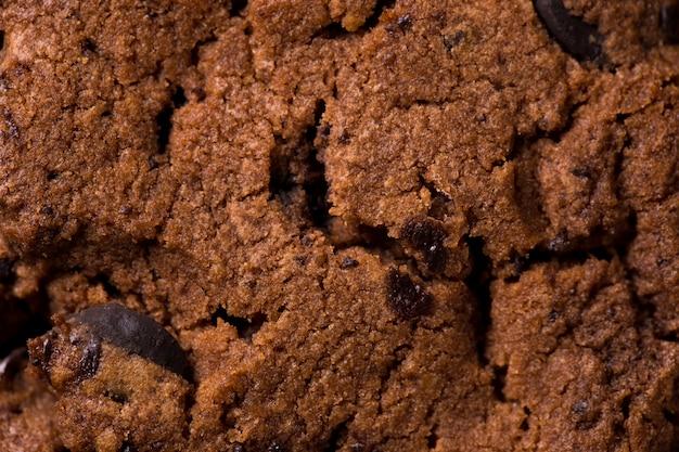 Текстура шоколадного печенья. макро крупным планом.