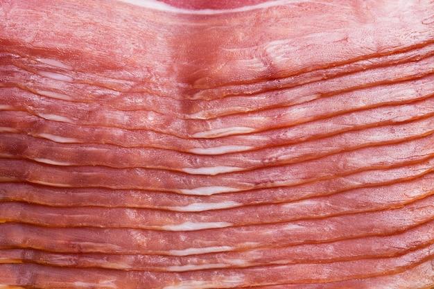 Текстура красного мяса с толстым крупным планом. крупный план