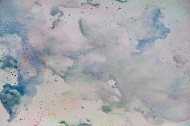 抽象的な塗装のカラフルな水彩背景-青、紫の色
