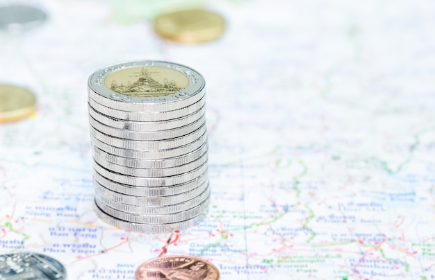 マップ上のタワーに積み上げられたコイン