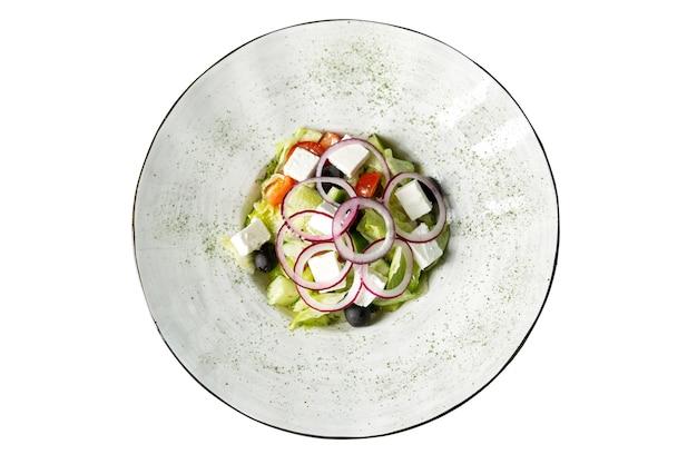 食欲をそそるギリシャサラダプレート