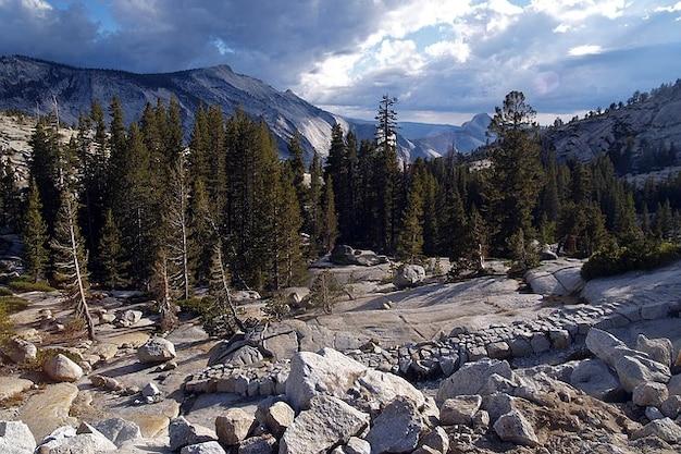 カリフォルニアの山公園ヨセミテ米国国家