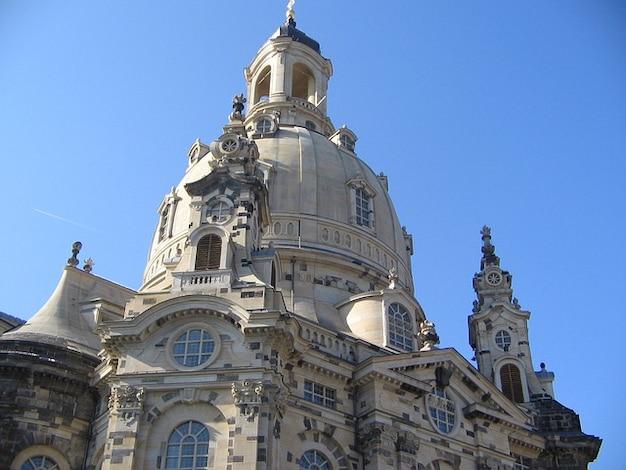 ドレスデン聖母教会の尖塔建築建設