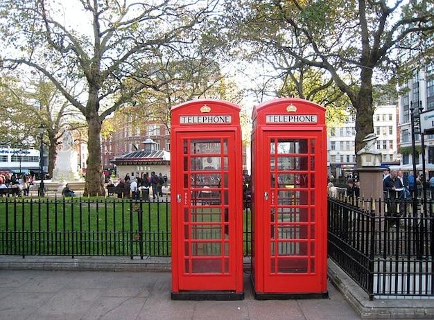 電話ボックスイギリスロンドン道路診療所