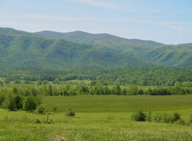 スモーキースモーキーテネシー渓谷の山々