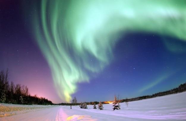 Северные сияния севере огни северного сияния полюс