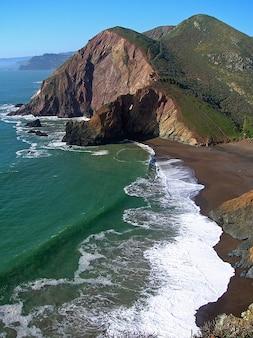 テネシー水海カリフォルニア入り江の波海