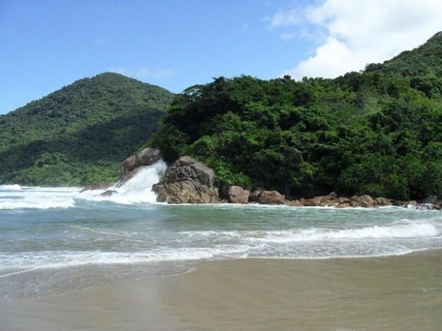 リオ·デ·ジャネイロ三位一体水夏砂浜