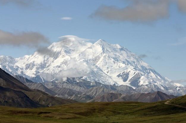 自然マウントマッキンリーアラスカの風景