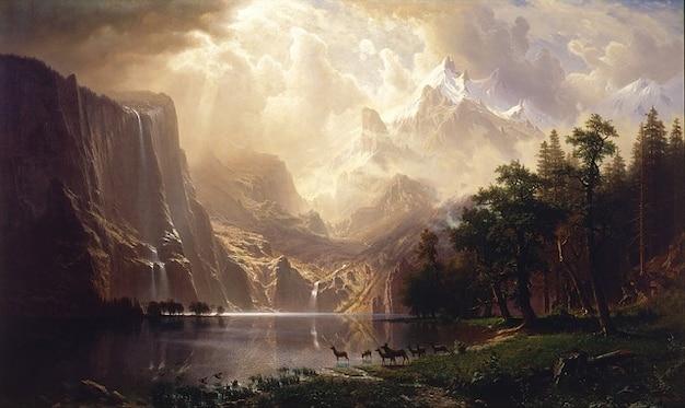 自然のキャンバスの絵画オイル芸術的空