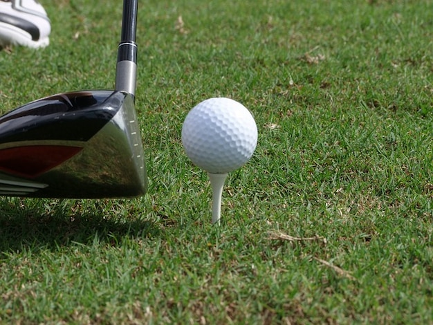 ティークラブスポーツのゴルフボールを急ぐ