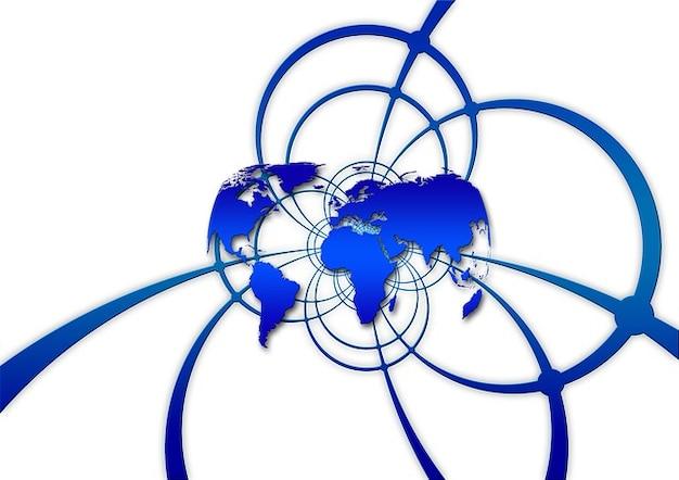 ネットワーキングネットワーク接続されたネットワークのグローバルなデジタル