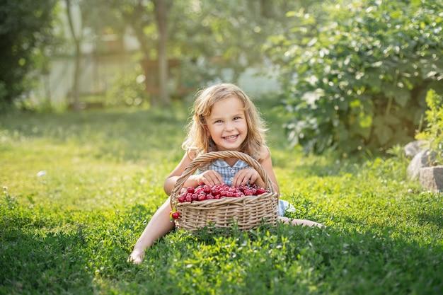 果樹園の熟した甘い夏の果実