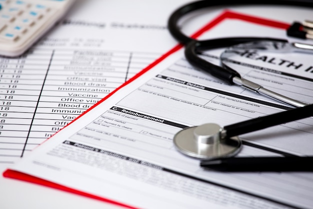 医療費聴診器です。医療費または医療保険