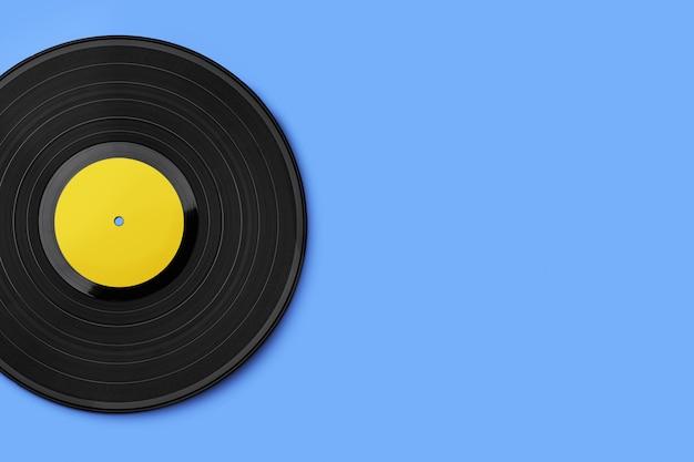 色付きの背景のビニールレコード