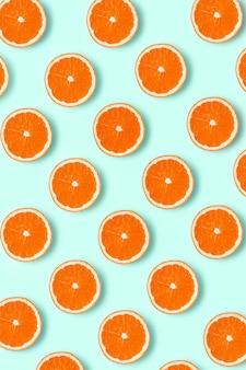 新鮮なグレープフルーツのスライスのパターン