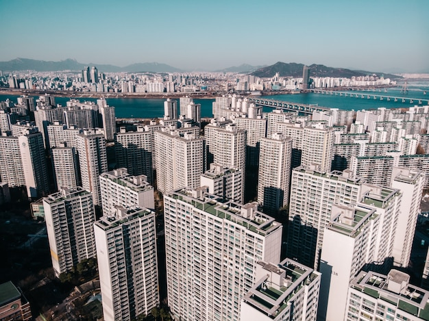 ソウル地区内の高層ビル