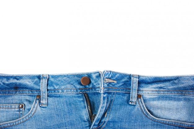 フロントポケットのクローズアップとジーンズ