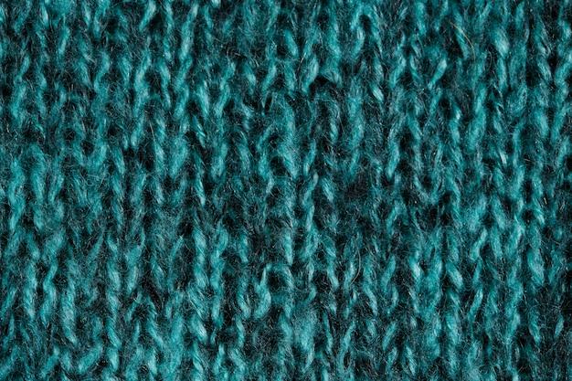 Яркий сине-зеленый шерстяной вязаный орнамент