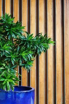緑の植物のあるホテルのロビー