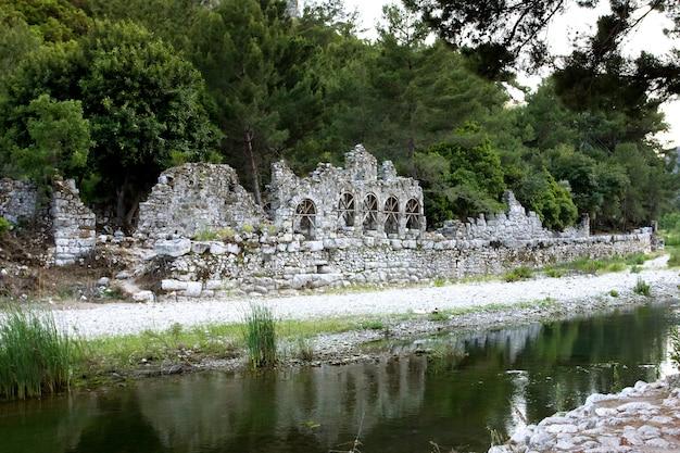 オリンポスの旧市街の遺跡