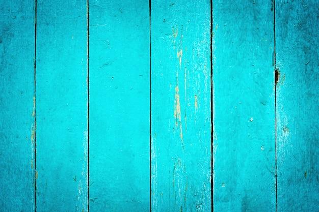 木製のターコイズブルーのテクスチャ背景