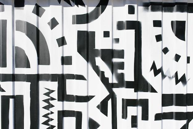 Абстрактный черный и белый фон
