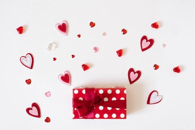 バレンタインのグリーティングカードの概念