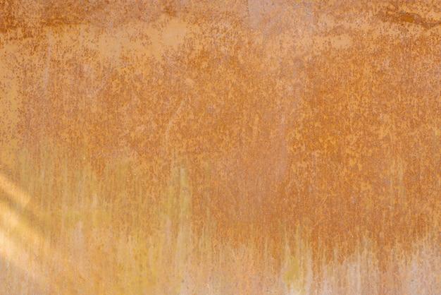 さびた金属シート赤オレンジと茶色