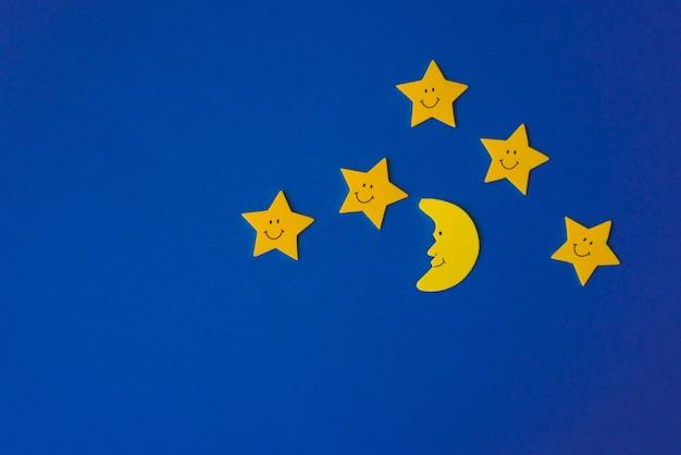 三日月と黄色の星