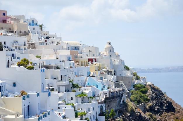 ギリシャのサントリーニ島の美しい島