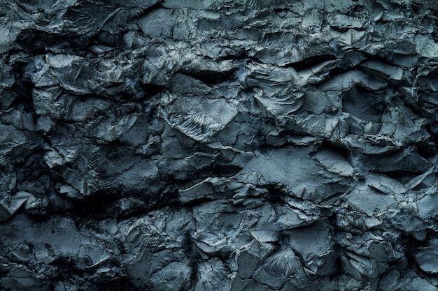 コンクリートラフウォールの美しい古いグランジテクスチャ。グレー色。背景の背景。水平。青色。