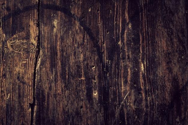 美しい古いアンティークダークウッドテクスチャ表面の背景の背景。スペースをコピーします。