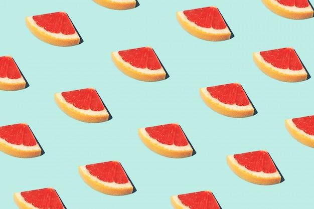 グレープフルーツと食品ファッション食品パターン