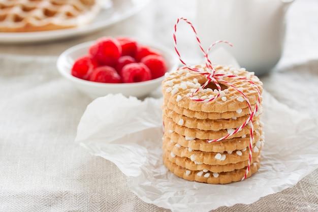 デザートのためのおいしいクッキー