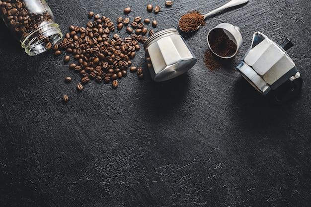 平らなコーヒーを作るための材料