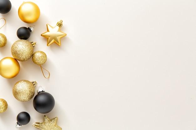 ミニマルなクリスマスフラットレイアウト背景