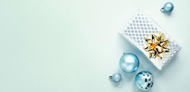ブルークリスマスフラットレイ